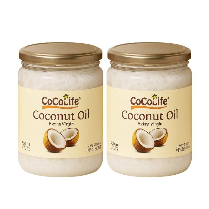 코코라이프 엑스트라버진 코코넛오일, 2개, 500ml