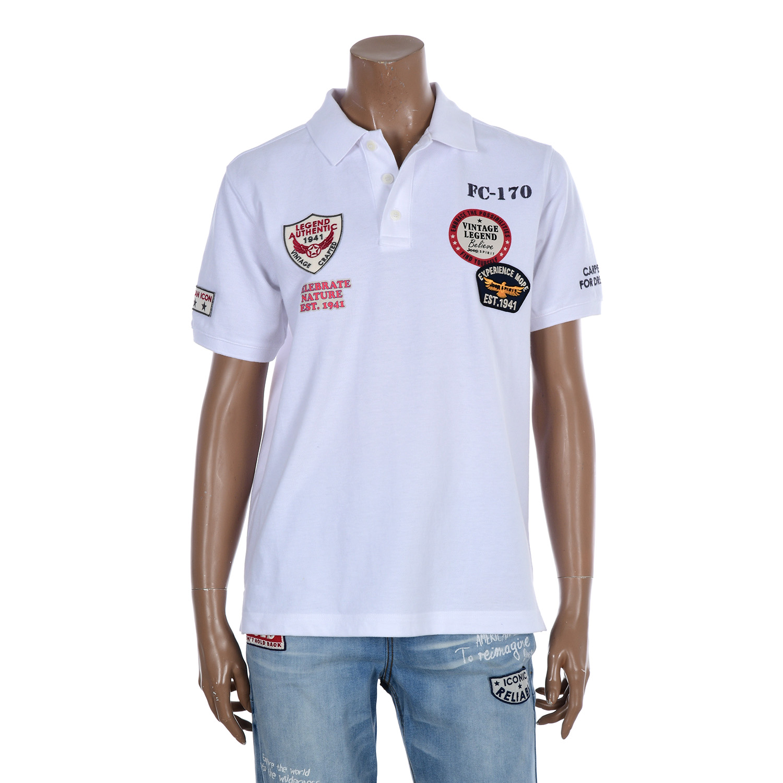 지프 와펜 시리즈 빈티지 피케 반팔 티셔츠 JL2TSU702