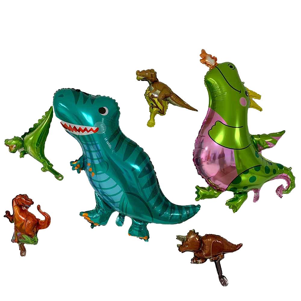 공룡 풍선 6종 세트, 혼합색상, 1세트