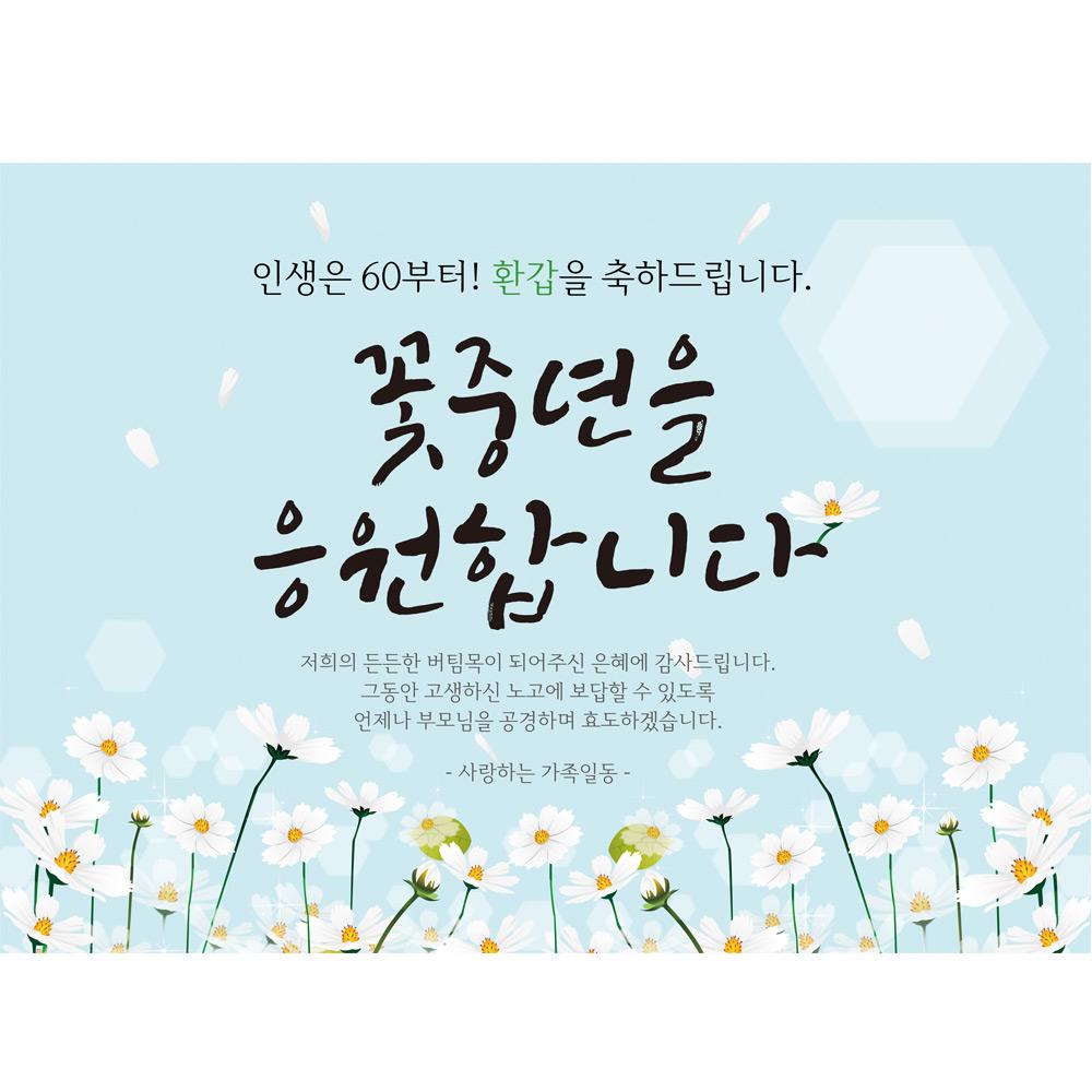 환갑 현수막 H01, 블루
