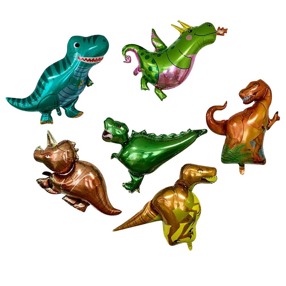 빅 공룡 풍선 6종 세트, 혼합색상, 1세트