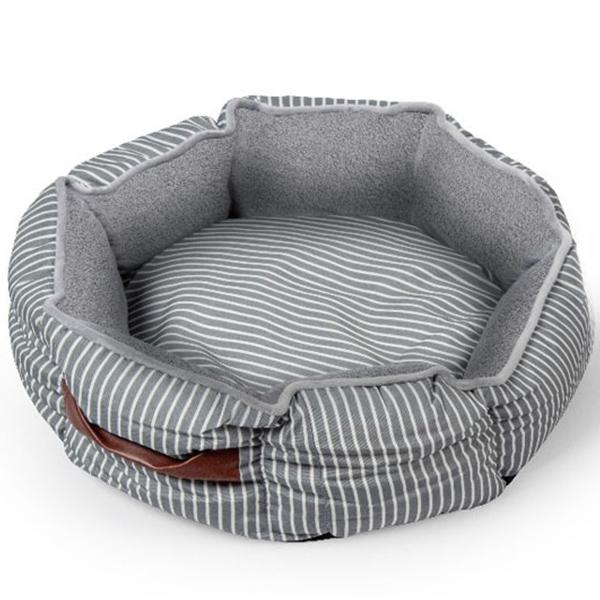파스텔펫 스트라이프 강아지방석 원형, 혼합색상