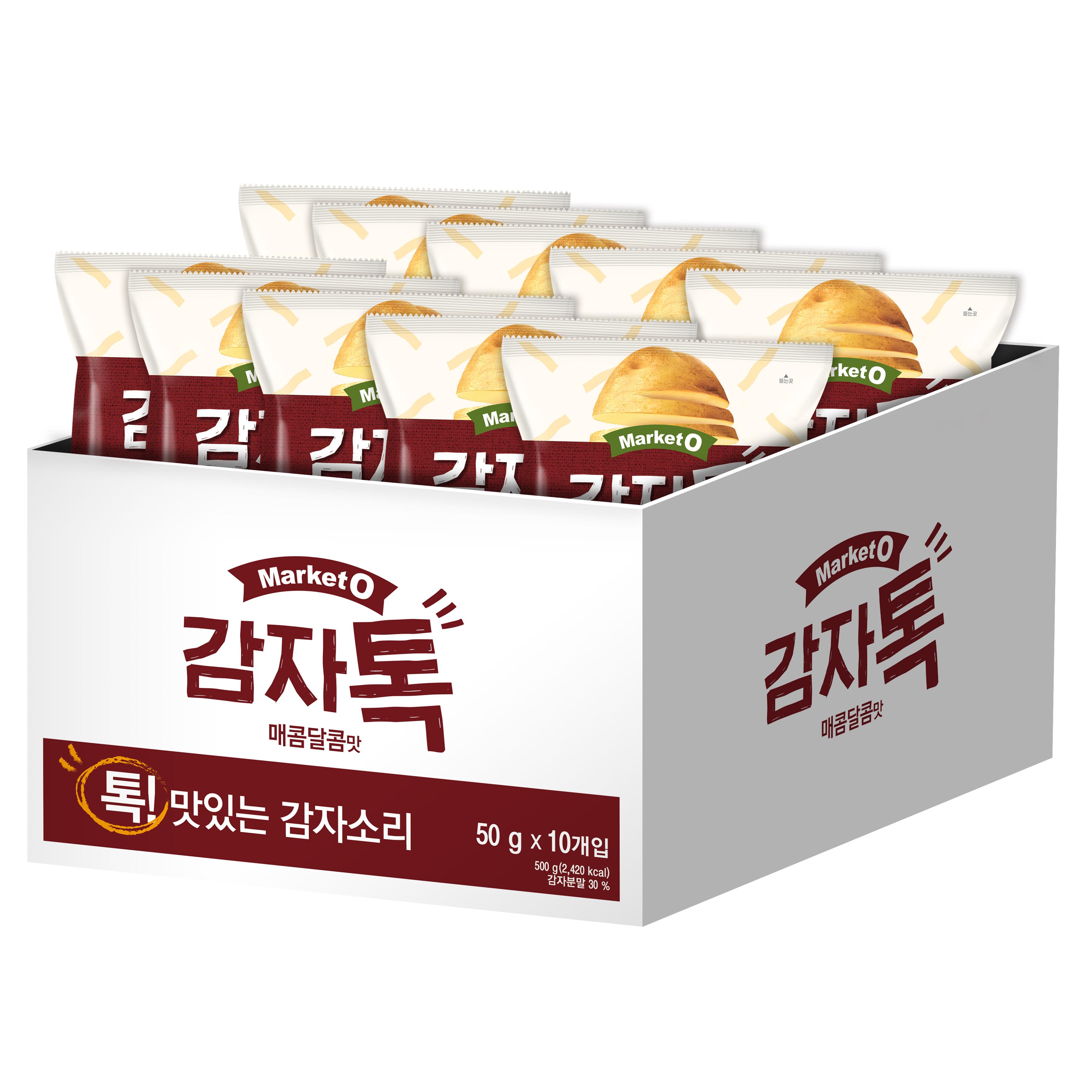 마켓오 감자톡 매콤달콤맛, 50g, 10개