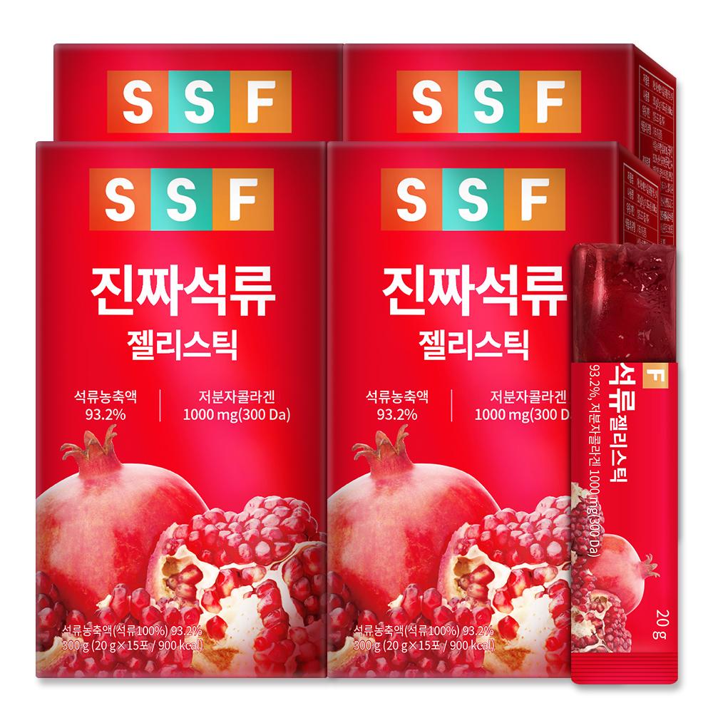 순수식품 진짜 석류 저분자 콜라겐 젤리 스틱, 60개, 20g