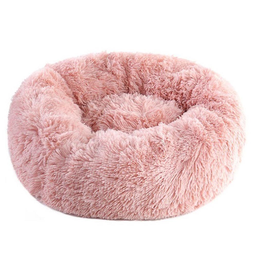웰럽 강아지 고양이 도넛 방석, 핑크
