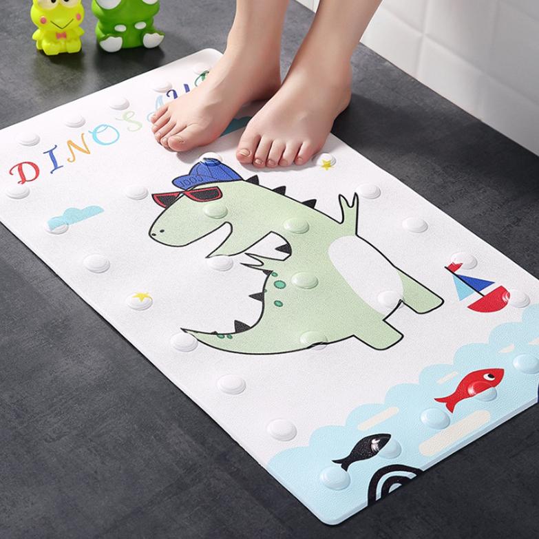 제이라이프 욕실 미끄럼방지 동물 발매트 70 x 40 cm, 선글라스 공룡, 1개
