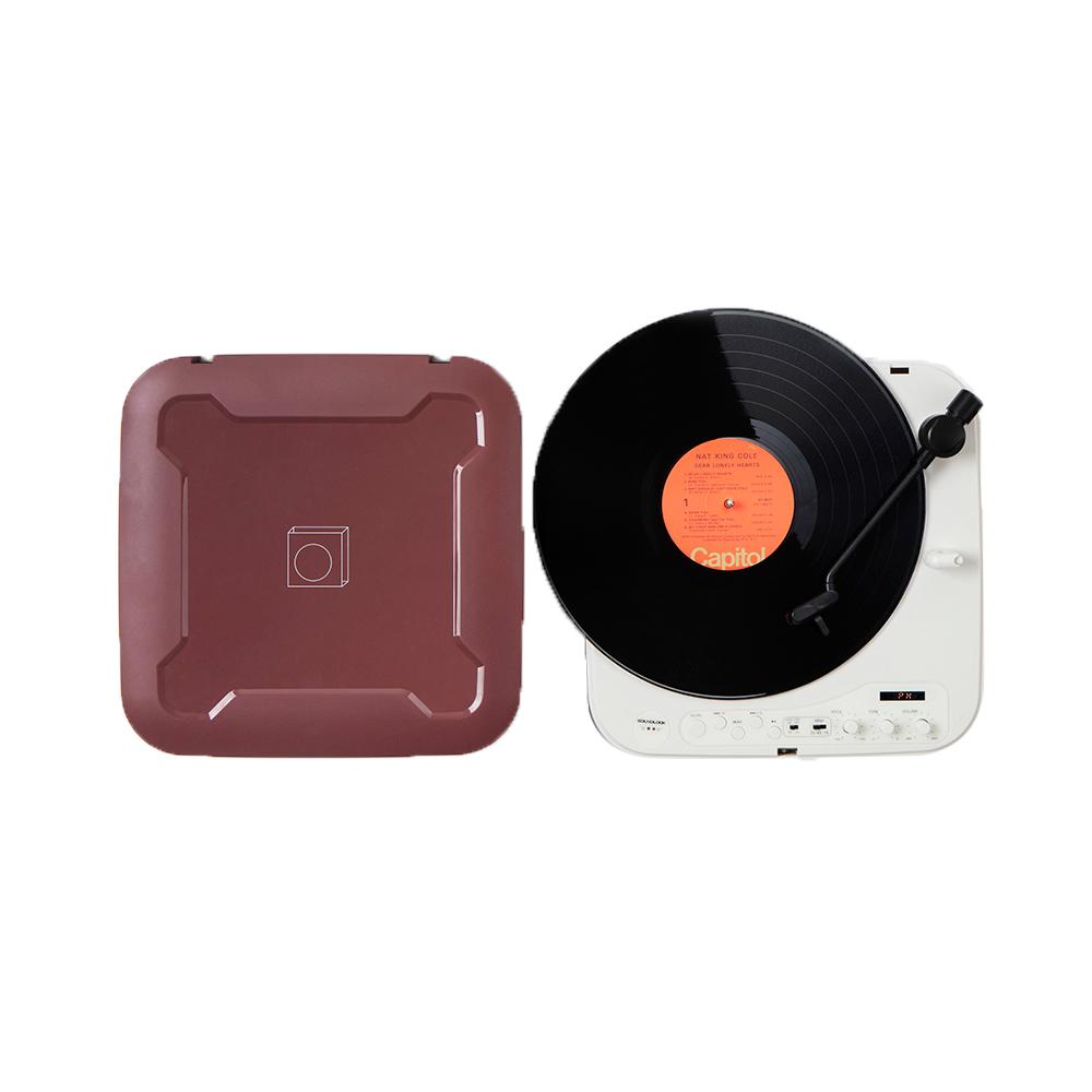 사운드룩 휴대용 보헤미안 LP 턴테이블, SLT-200BT(레드빈)