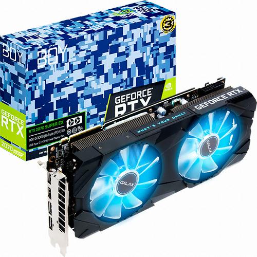 갤럭시 BOY 지포스 RTX 2070 SUPER EX OC D6 8GB 그래픽카드, 단일상품