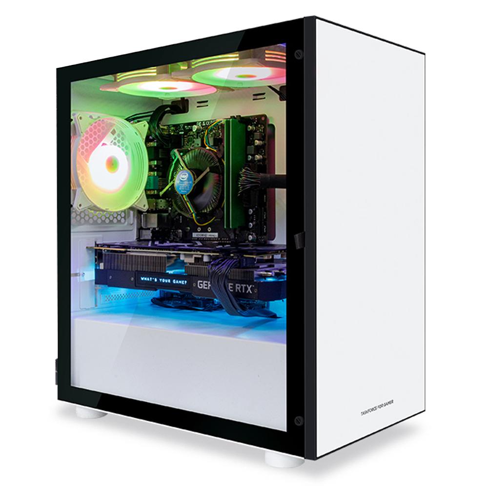 한성컴퓨터 게이밍 데스크탑 블랙 TFG MX3366 (라이젠3 3300X WIN미포함 RAM 8GB SSD 240GB GTX1660 SUPER)