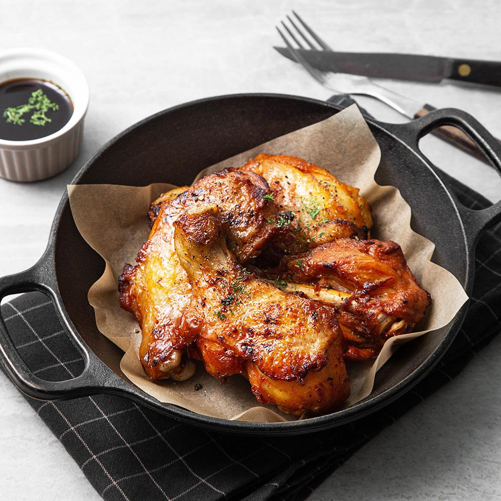 홈포차 찐 숯불구이 닭다리, 100g, 4개