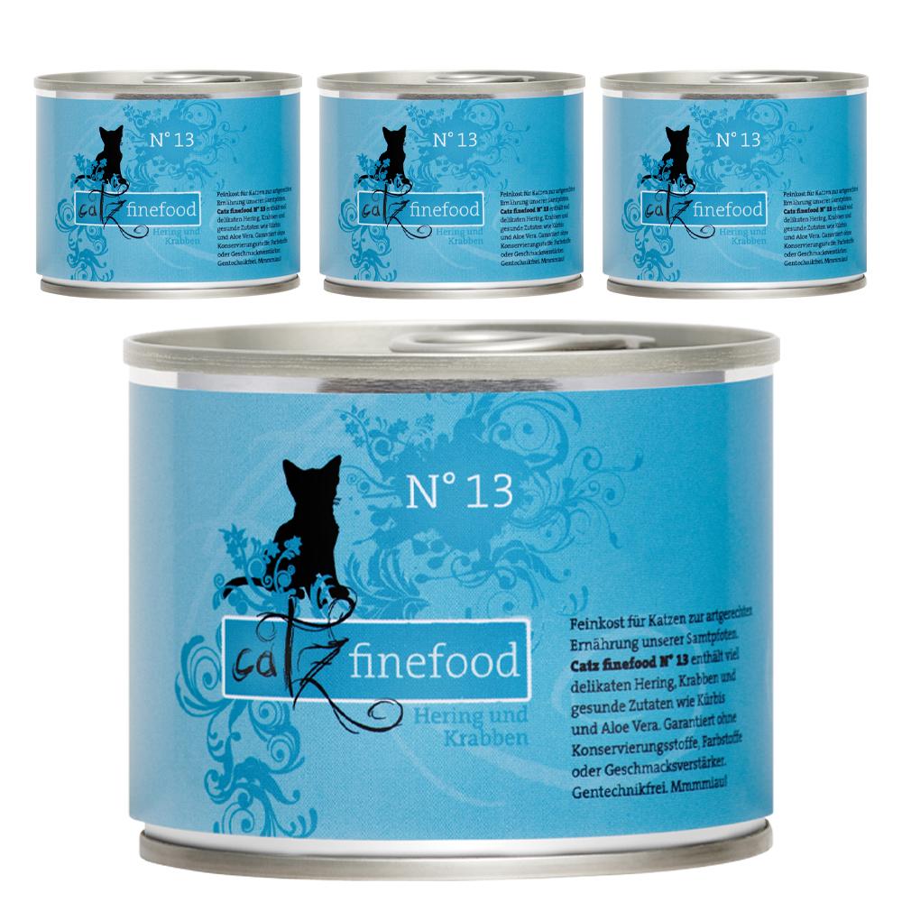 [주식 파우치] 캣츠파인푸드 전연령용 NO.13 청어와 쉬림프 고양이 주식캔 4p, 생선, 200g - 랭킹64위 (17700원)