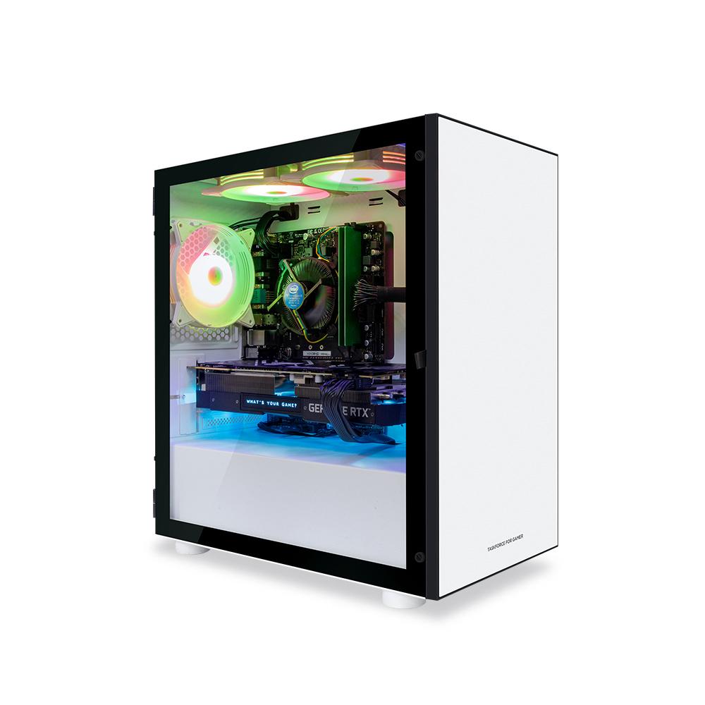 한성컴퓨터 TFG MX 게이밍 데스크탑 화이트 MX3507 (3세대 라이젠5-3500 WIN미포함 RAM 16GB SSD 240GB RX570), 기본형