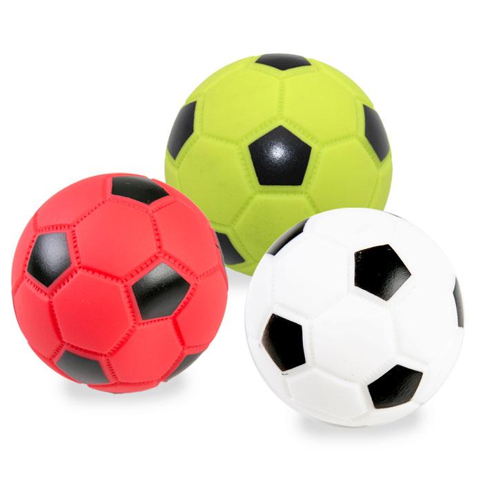 딩동펫 강아지 축구삼형제 라텍스장난감 3p 7.5cm, 혼합색상, 1세트