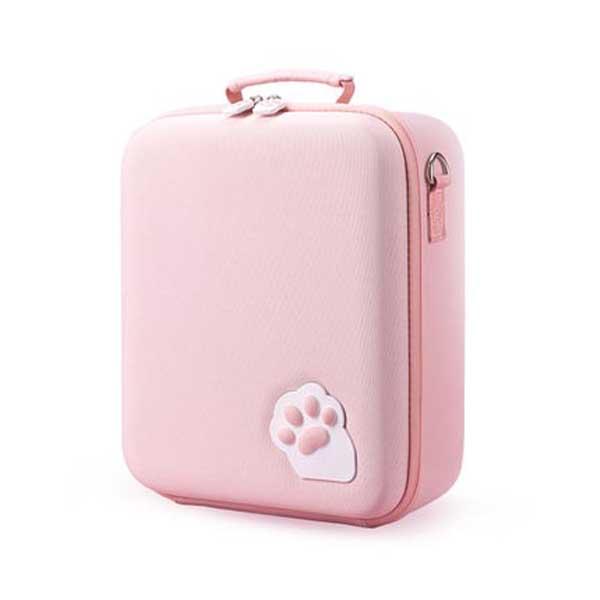 닌텐도 스위치용 고양이 발바닥 수납가방, 핑크, 1개