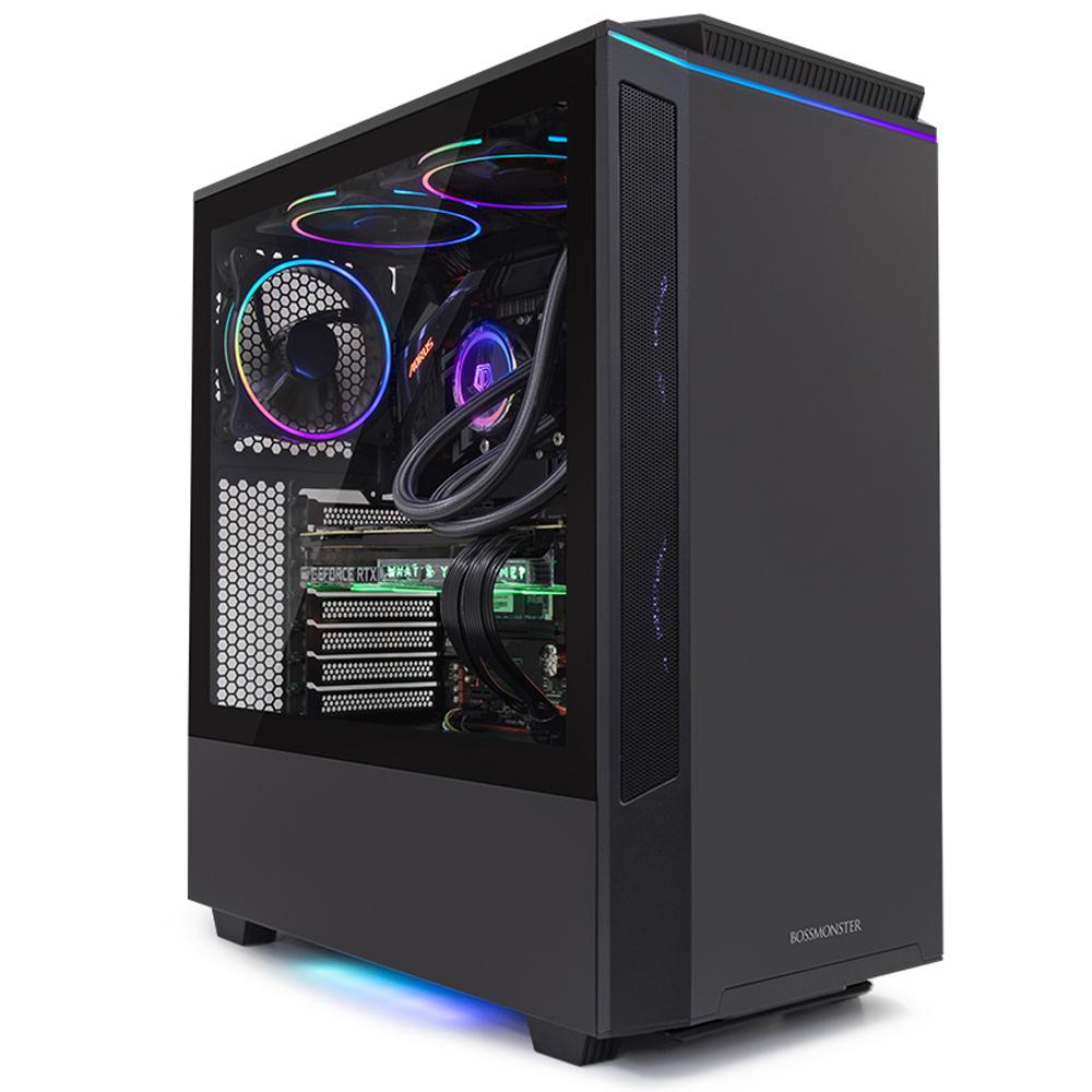 한성컴퓨터 보스몬스터 게이밍 데스크탑 블랙 DX5980XTW (인텔 i9-9900KF WIN 10 Home RAM 32GB NVMe 512GB RTX 2080 Ti), 기본형