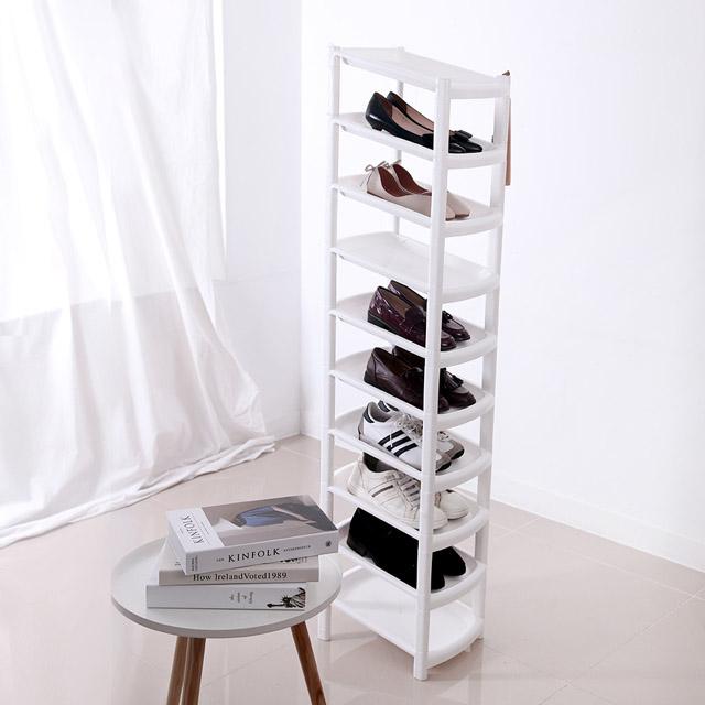 룸트 슬림 신발정리대 10단 화이트, 1개