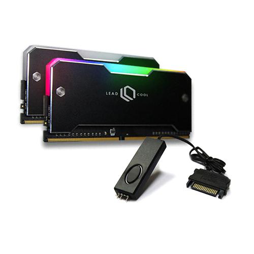 리드쿨 RH-1 ARGB 메모리 방열판 블랙 2p + 컨트롤러 케이블 세트, 1세트