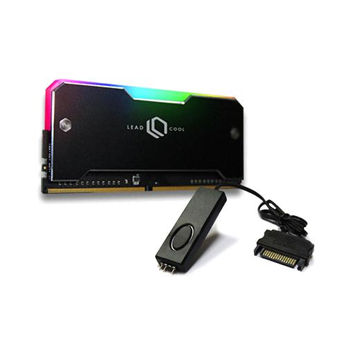 리드쿨 RH-1 ARGB 메모리 방열판 블랙 + 컨트롤러 케이블 세트, 1세트