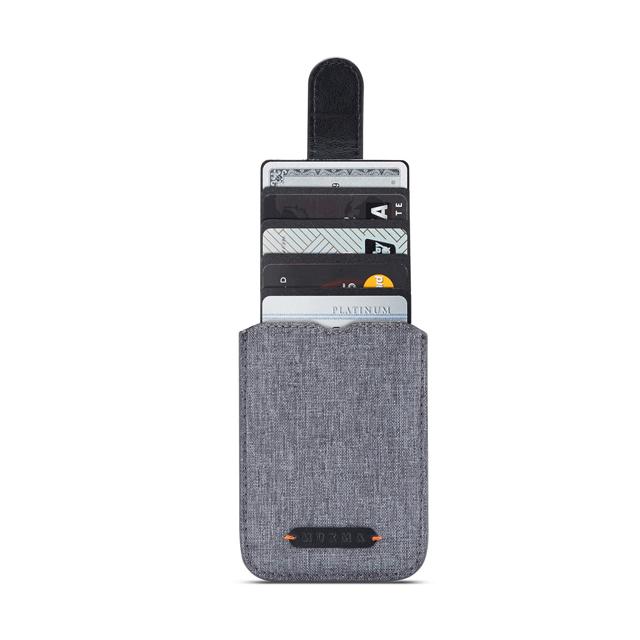 디케이 5단 카드포켓 휴대폰 스티커, 블랙, 1개