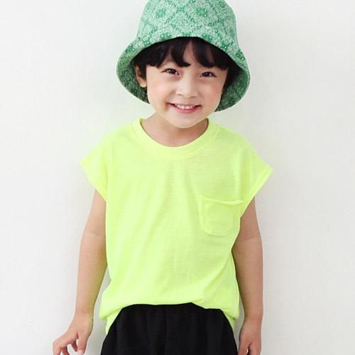 초코몽 아동용 큐티 형광포켓 티셔츠