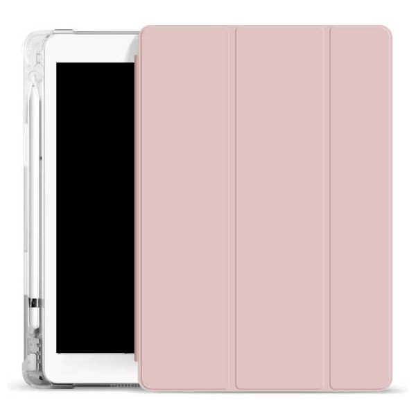 오펜트 소프트 펜슬수납 태블릿PC 케이스, 분홍우유