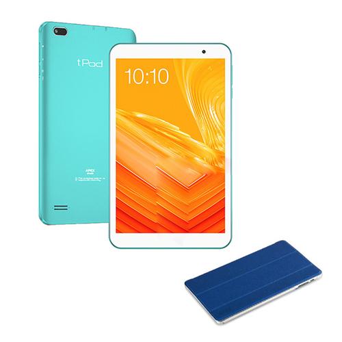 태클라스트 APEX tPad8 태블릿PC + 전용케이스, Wi-Fi, 블루, 16GB