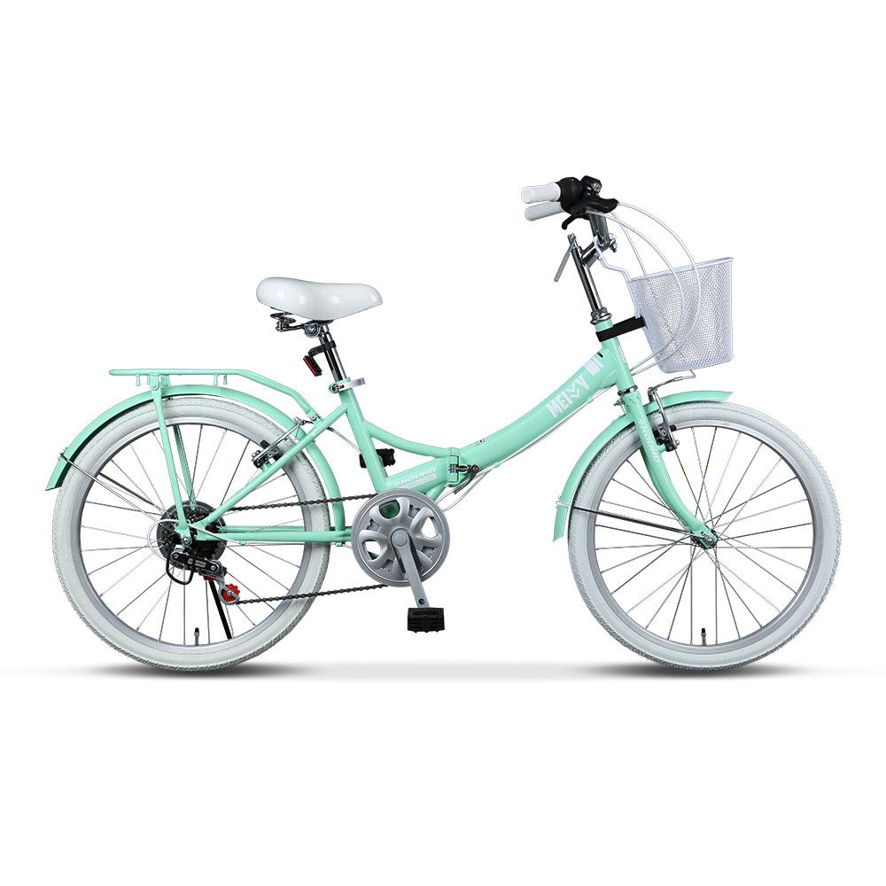 삼천리자전거 메이비 접이식 클래식 55.9cm, 민트, 155cm
