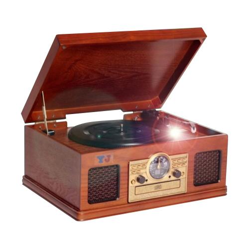 엔틱오디오 CD 카세트 LP 턴테이블, YJ-6285