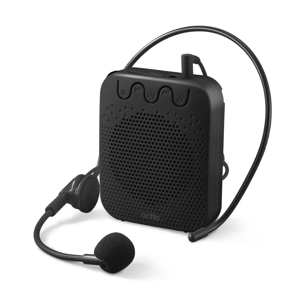엑토 강의 휴대용 무선 마이크 앰프 기가폰, MIC-16, 블랙