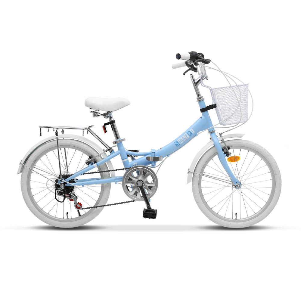 BIMAX 접이식 자전거 50.8cm 20 SHAFRI, 라이트블루, 145cm