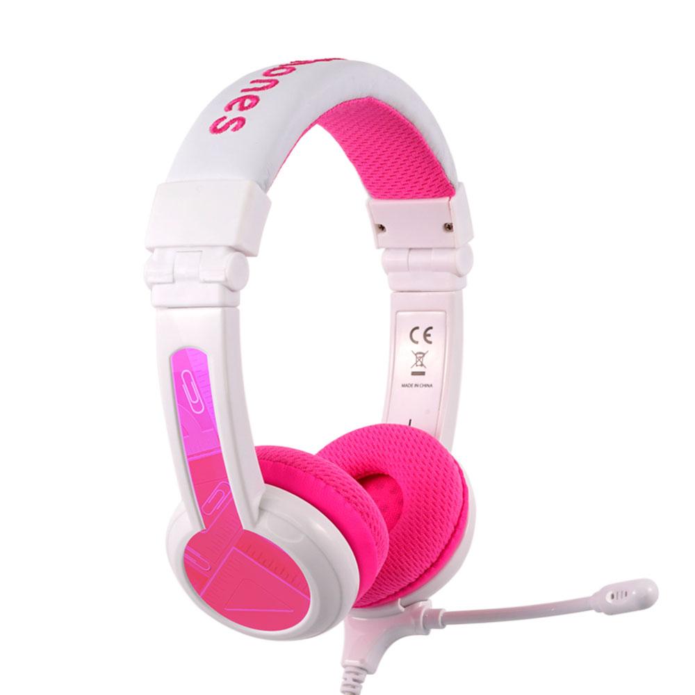 온앤오프 버디폰 스쿨플러스 어린이 청력 보호 어학용 헤드셋, BP-SCHOOLP-PINK, 핑크