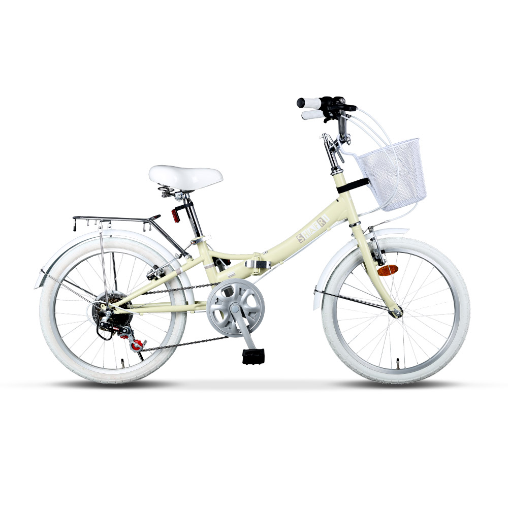 BIMAX 접이식 자전거 50.8cm 20 SHAFRI, 아이보리, 145cm