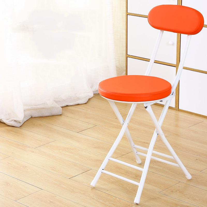 가팡 철제 두툼한 가죽쿠션 접이식 의자, 레드 6510