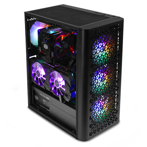 대양 ME NO.6 RGB 풀 아크릴 미들타워 블랙, 단일상품