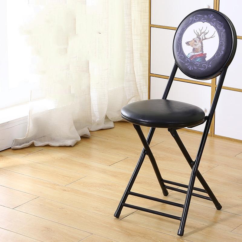 가팡 철제 빈티지 접이식 등받이 의자, 6801