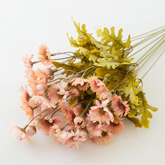 더플라워마켓 조화 선선한날 가을국화부쉬 2p, 핑크