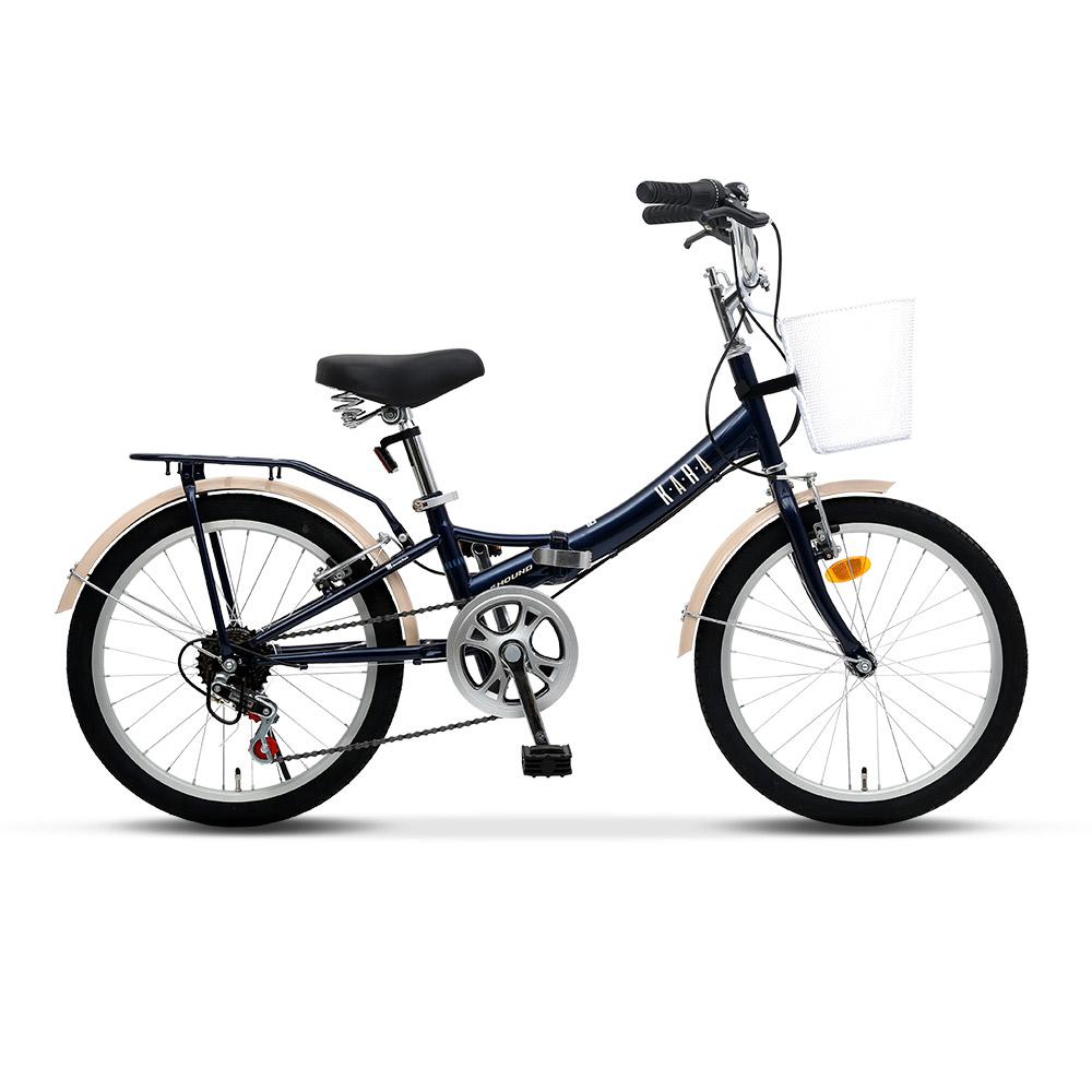 삼천리자전거 카라 접이식 자전거, 다크블루, 140cm