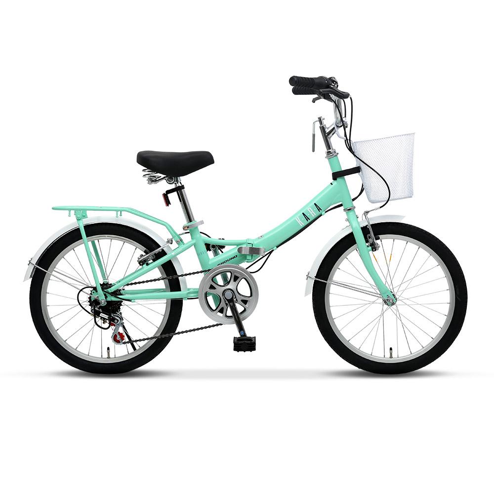 삼천리자전거 카라 접이식 자전거, 민트, 140cm