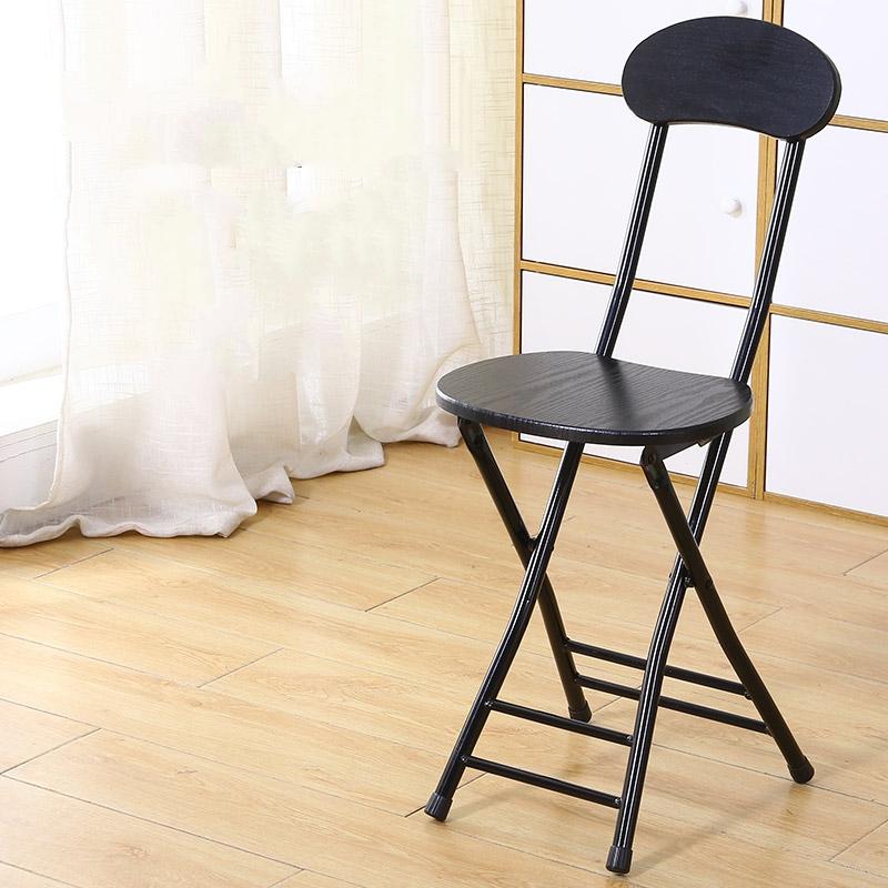 가팡 철제 등받이 접이식 의자, 블랙 5802