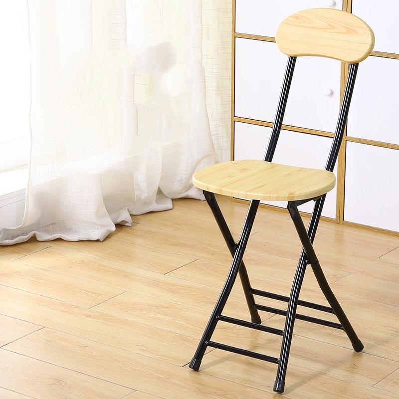 가팡 철제 등받이 접이식 의자, 우드 5804