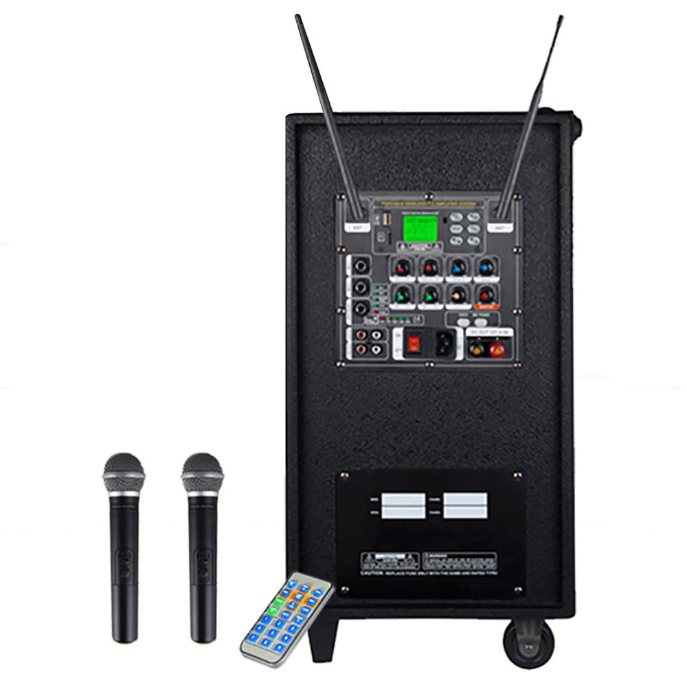 그레이스 400W USB SD포트 블루투스 무선 마이크 2p + 엔터그레인 충전식휴대용 이동형앰프, EG-410