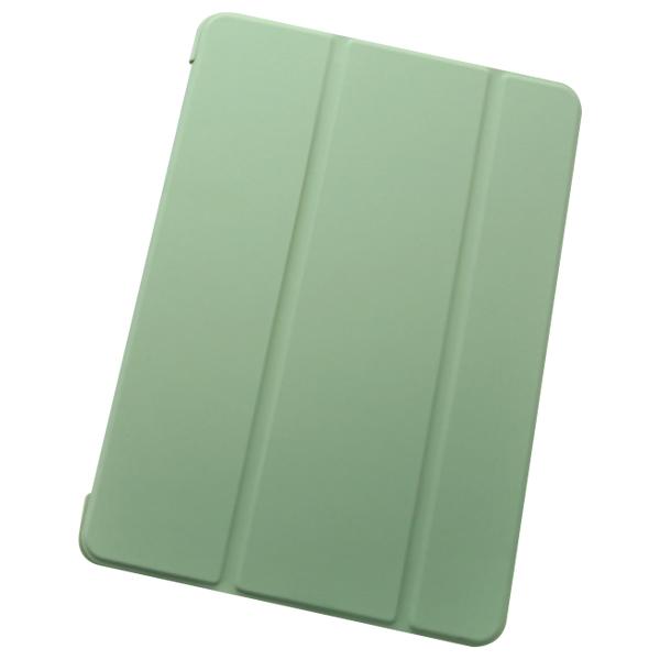 오펜트 마카롱 펜슬 수납 홀더 슬림 커버형 태블릿PC 케이스, 올리브그린