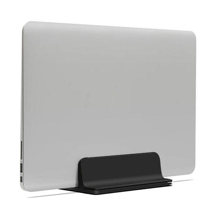 알루멘 알루미늄 맥북 노트북 수직 거치대 버티컬 스탠드 N2, 블랙