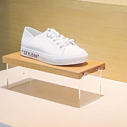 투명 아크릴 신발 디스플레이 선반, 1개