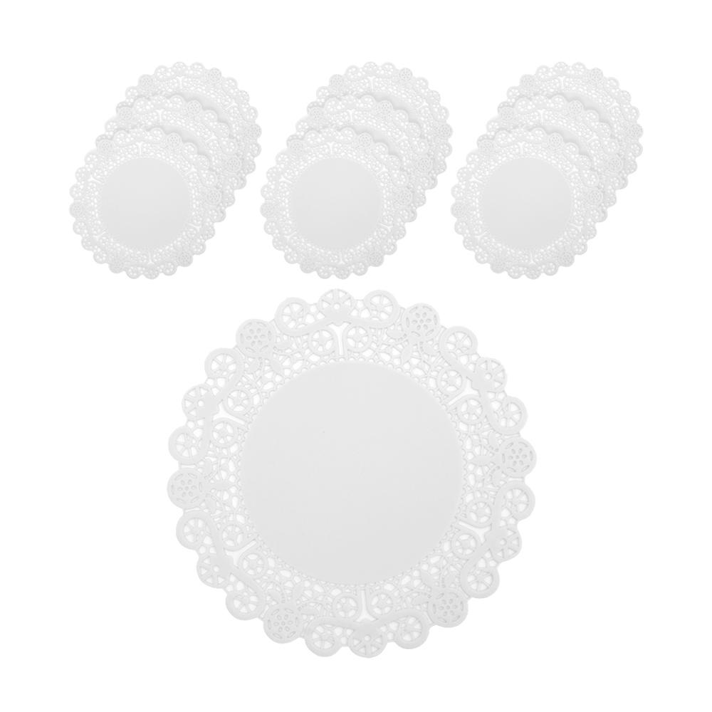 플라이토 실리콘 레이스 컵받침 10p, 화이트
