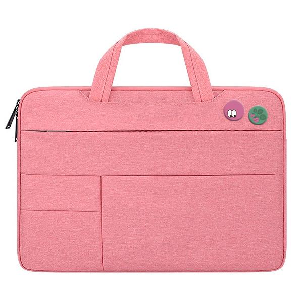 디스트 젤리코코 노트북 파우치 + 핀버튼 2종 세트, 파우치(핑크), 핀버튼(C, D)