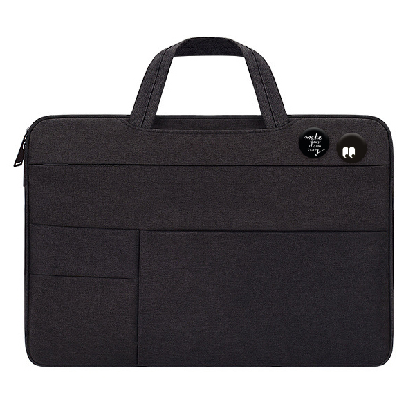 디스트 젤리코코 노트북 파우치 + 핀버튼 2종 세트, 파우치(블랙), 핀버튼(A, B)