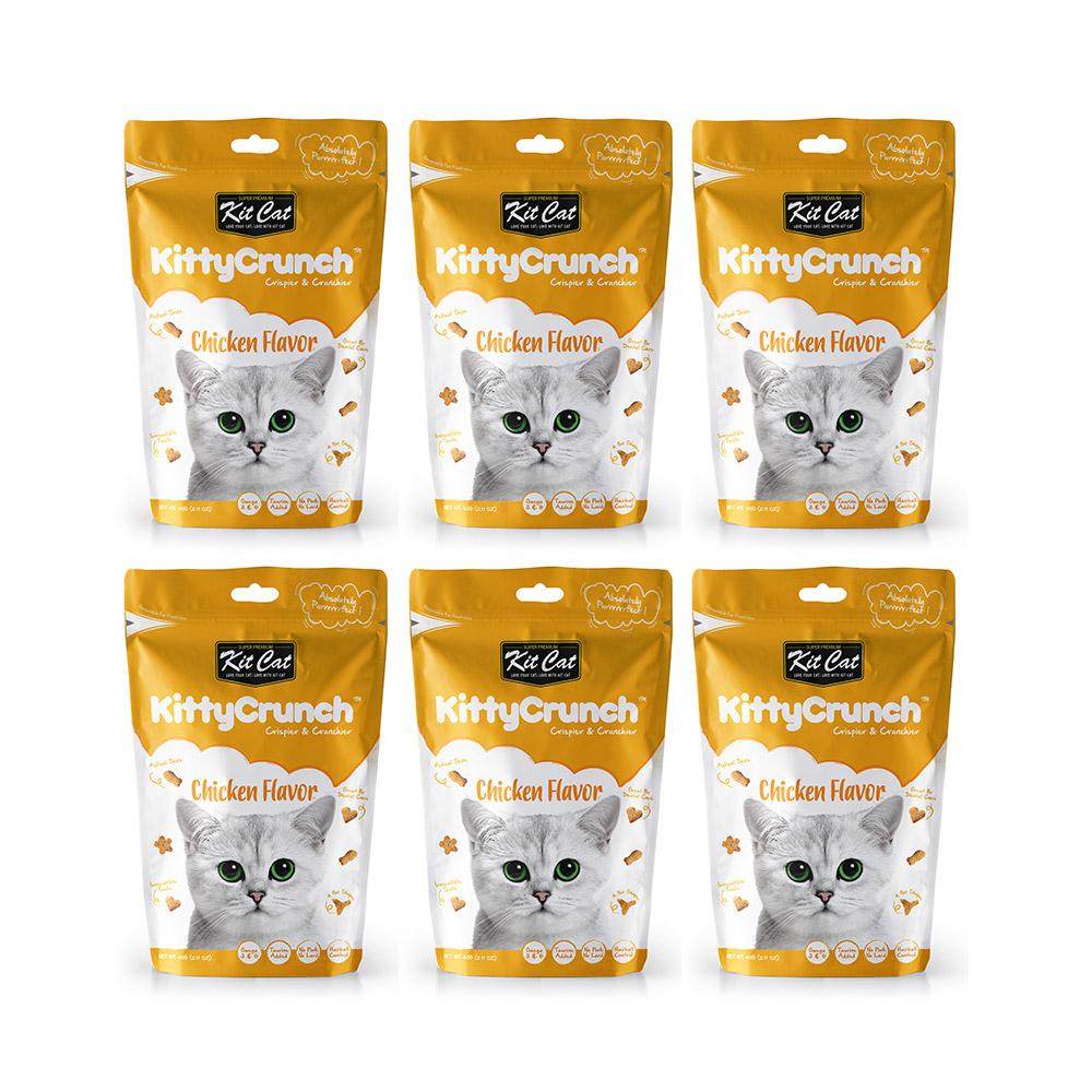 킷캣 키티크런치 고양이 간식 60g, 닭고기맛, 6개