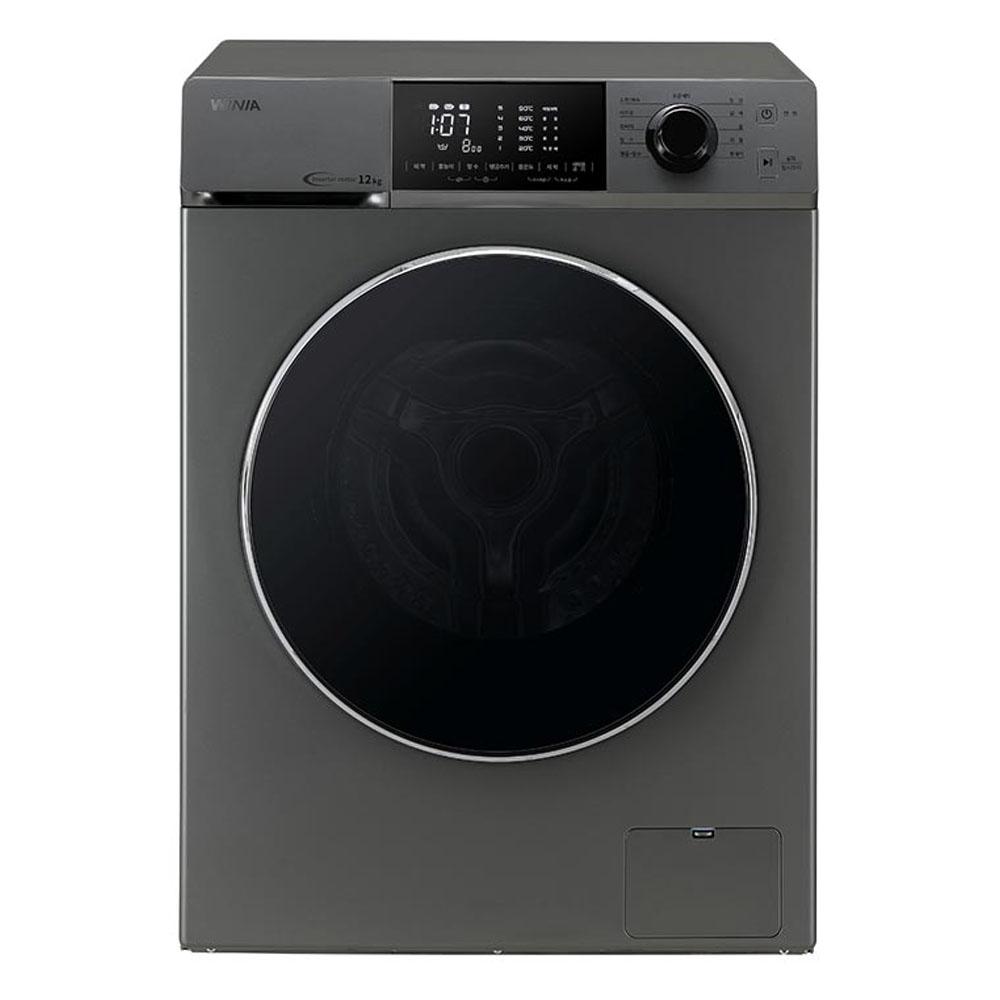 위니아딤채 드럼 크린 세탁기 WMF12BS5T 12kg 방문설치 다크실버