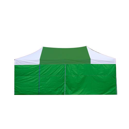 홍캐노피 스틸 접이식 행사용 캐노피천막 민자 벽면 32mm x 2.5m x 2.5m, 녹색(중앙) + 백색, 1개